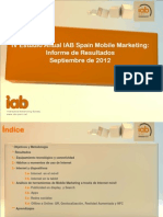 IV Estudio Anual IAB Spain Mobile Marketing