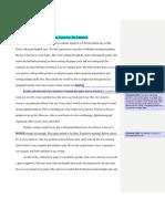 Peer Review of Sample Essay