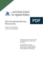 Mercyhurst Fall 2012 Poll for Release