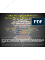 Flyer CLR 2 Pre Deployment Brief for Married Marines