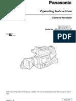 Manual Filmadora Panasonic Dvc20p