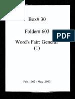 World's Fair General Documentation 1