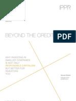 Beyond the credit boom