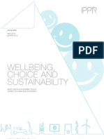 Wellbeing, choice and sustainability