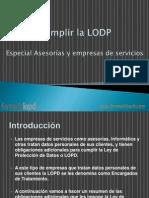 cumplir la lopd-especial asesorías y empresas de servicios