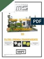 Manual Filtro Prensa Transparente