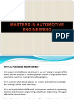 Higher studies in Automotive Engg