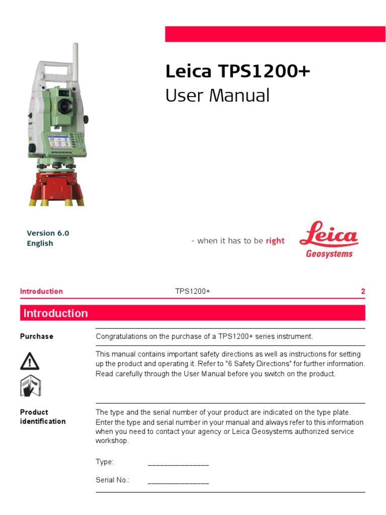 Leica Tcp 1205 User Manual