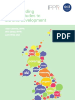 Understanding public attitudes to aid and development