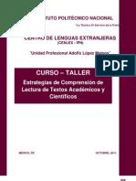 Curso - Taller de Estrategias de Comprensión de Lectura de Textos Académicos y Científicos