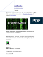 Efecto Matrix Con Photoshop