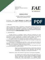 Resenha Critica - Ações afirmativas no Brasil desafios e perspectivas