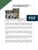 Rechazan tepoztecos ampliación de carretera La Pera
