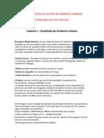 APONTAMENTOS DE GESTÃO DE AMBIENTE URBANO