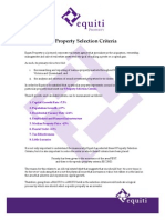 8 Property Selection Criteria