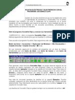 Práctica 1  virtual de electrónica con el programa Cocodrile Clips
