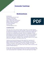 SWAMI SIVANANDA-BRAHMACHARYA (en inglés)