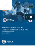 Ics - Introduccion Al Sisitema de Comandos de Incidentes - m.e.