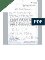 Carta de Valentina Herrera (8años)