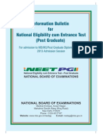 NEET PG 2013 Information Booklet FINAL