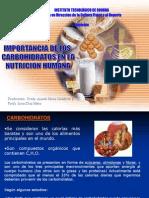 Importancia  de los HC en nutrición Humana Y LIPIDOS