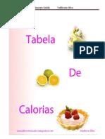 Livro Tabela de Calorias