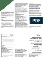 Scheda Iscrizione e Volantino COSMESI VEGETALE Multiplo