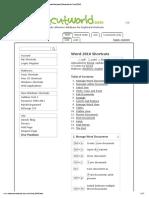 200+ Useful Keyboard Shortcuts for Word 2010