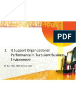 1 IT Support Organizational Performance in Turbulent Business Environment