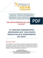 Bases Del 4to. Concurso Agroindustria Innovadora 2012