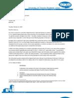 Univesity of Toronto Students' Union (UTSU) Response to the University of Toronto Engineering Society's letter - February 16, 2010