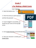 Instructions for Making a Math Comic