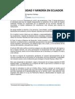 GEODIVERSIDAD Y MINERÍA EN ECUADOR