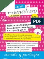 Afiche Semana Prematuro La Rioja