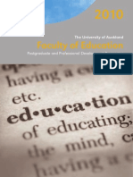 2010 Faculty of Education Postgraduate Prospectus