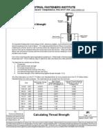 Engineering - Bulletin - Calculating Thread Strength