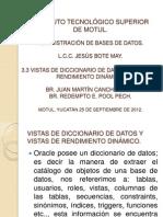 Diccionario de Datos y Vistas Dinamicas