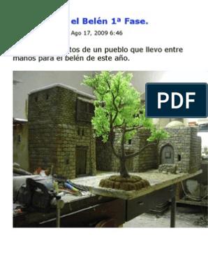 Pueblo Para El Belén 1ª Fase Pinturas Poliuretano