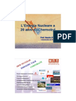 Energia Nucleare a 20 Anni Da Chernobyl