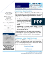 The Eliminate Project - USA 2 Newsletter 9-24-12