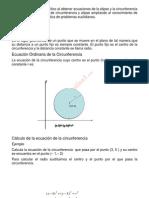 circunferencia, Elipse y Sus Ecuaciones