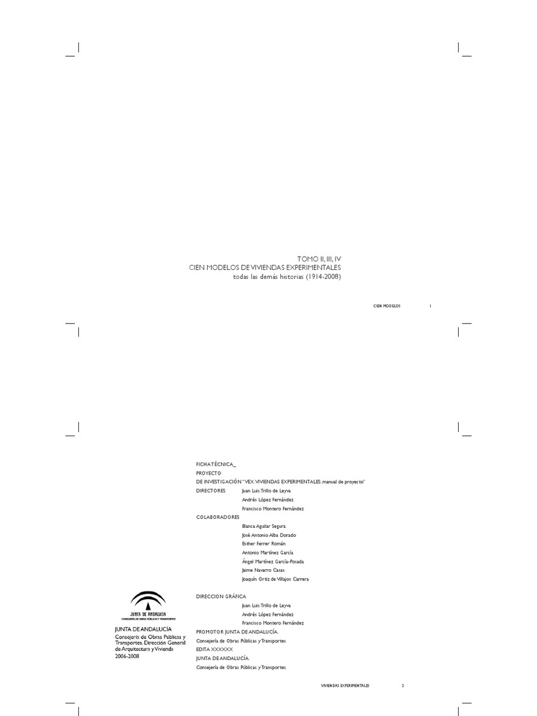 Viviendas Experimentales, Estudio y Proyecto de Nuevos Modelostomo 2_3_4