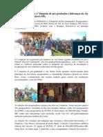Relatório parcial do I simpósio pós graduados e Aty Guasu Guarani e Kaiowá MS