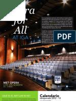 Programación MET Opera Guatemala