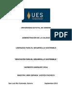 Educacion Para El Desarrollo Sostenible..Lectura 1