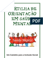 Cartilha Orientacao Saude Mental Secrt Saude Df
