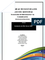Istalacion SQL Server 2008.