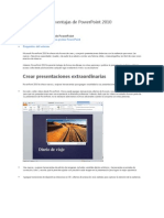 Características y ventajas de PowerPoint 2010
