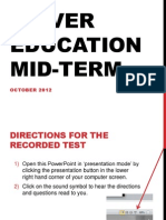 Driver Education Mid-Term