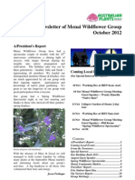 Menai Wildflowers Group Newsletter 2012 October